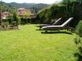Der Garten mit Blick auf das mittelalterliche Dolcedo